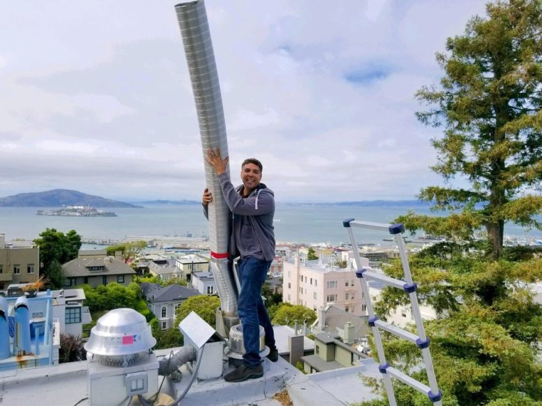 Stainless steel flue liner in San Francisco, CA