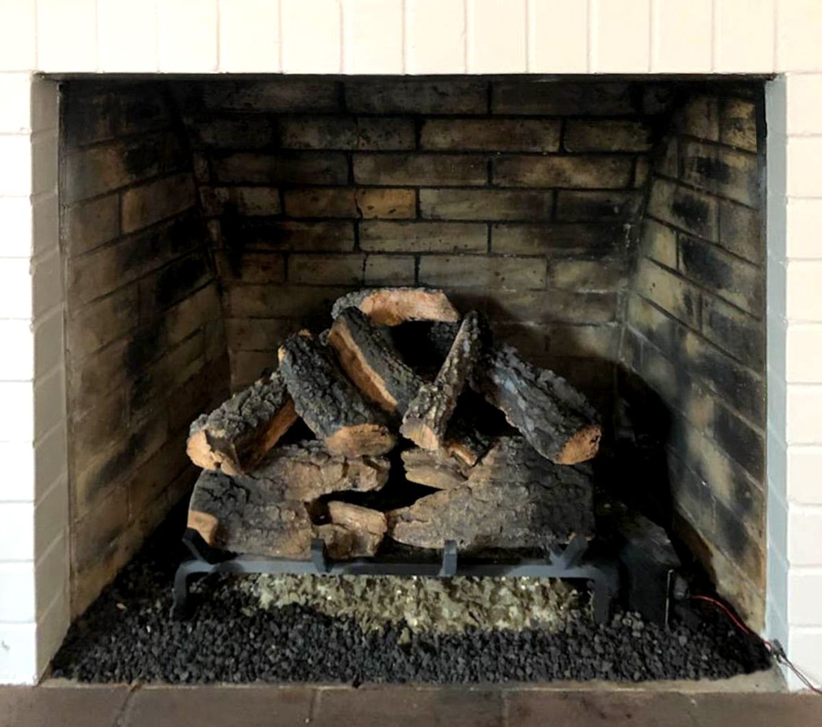 Electric Fireplace Gas Log Cleaning - After