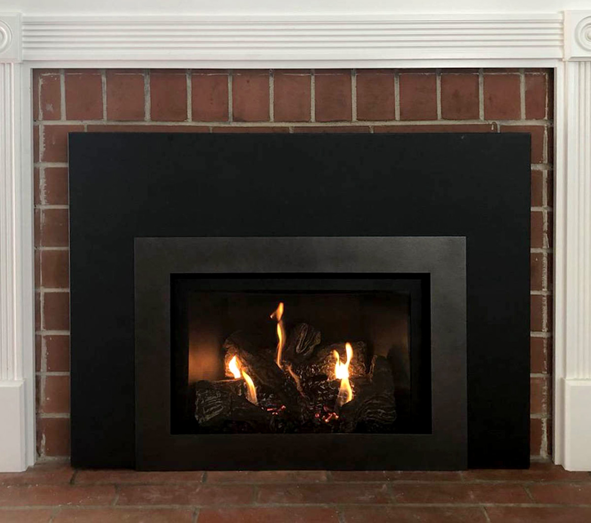 Electric Fireplace Gas Insert - After