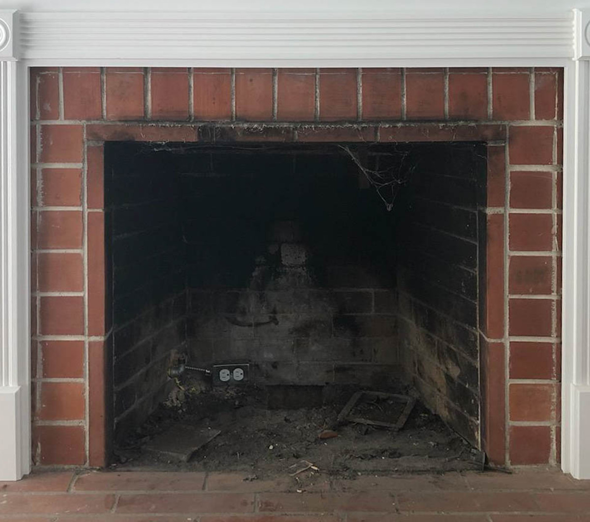 Electric Fireplace Gas Insert - Before