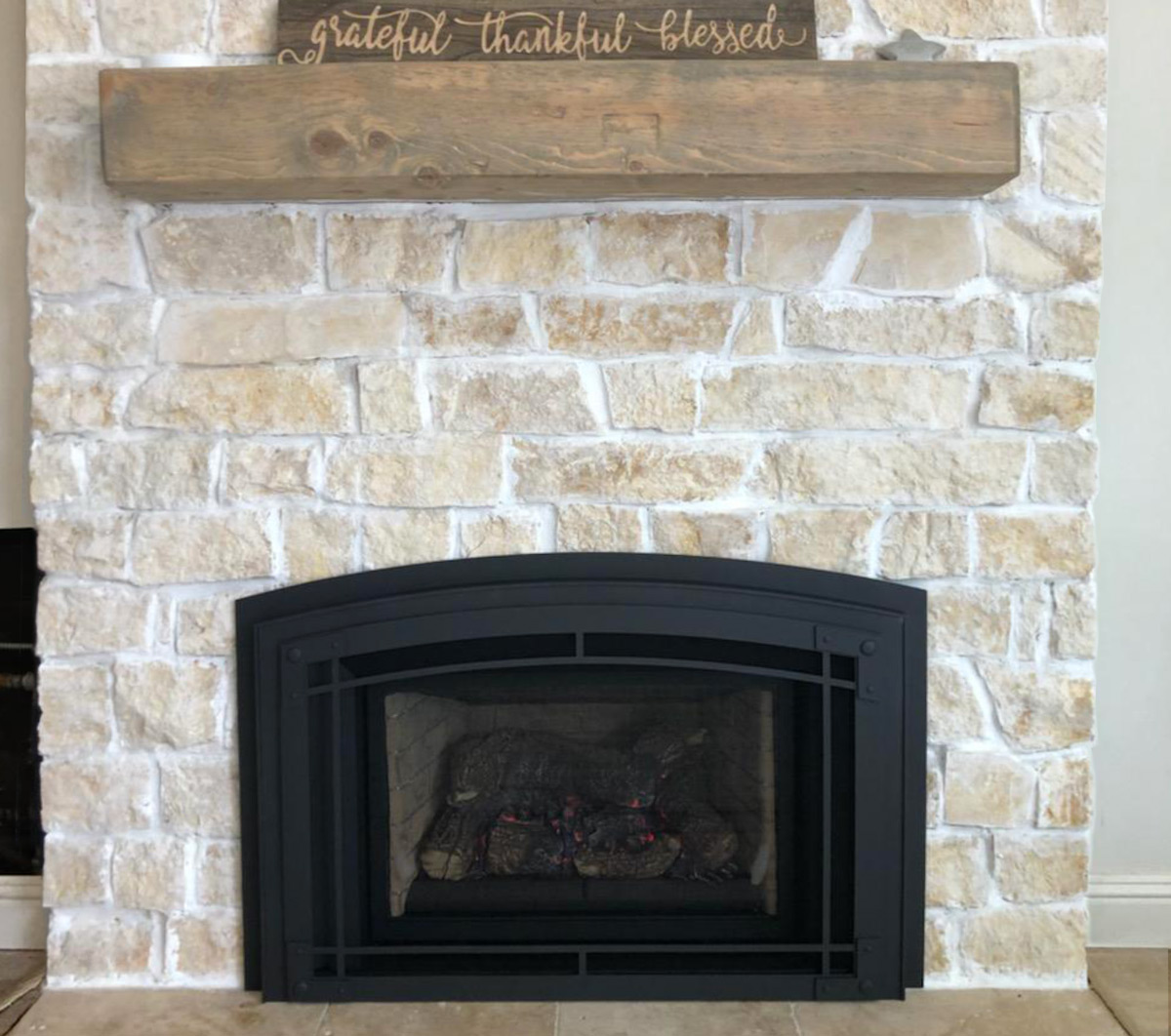 Electric Fireplace - After