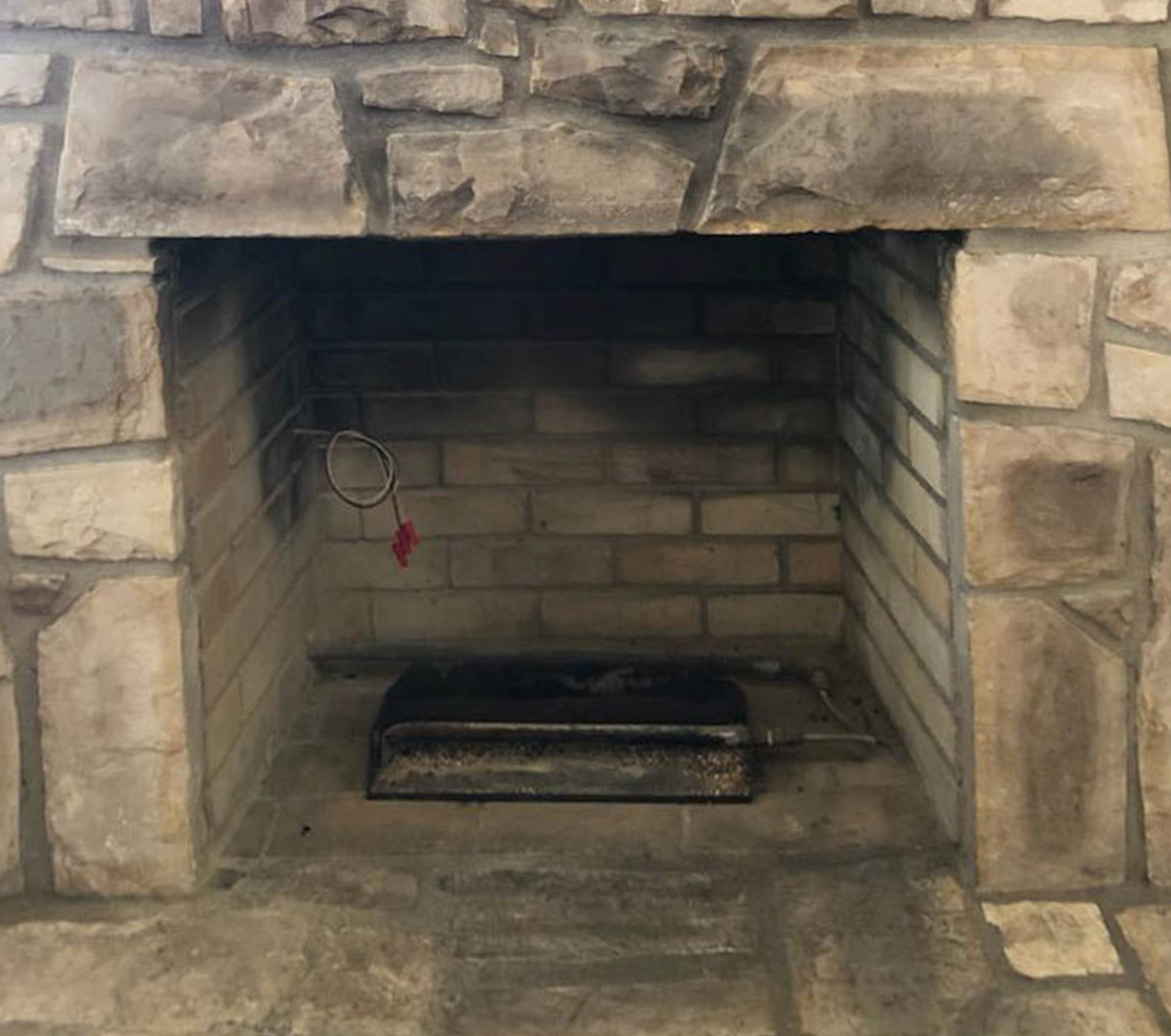 Electric Fireplace - Before