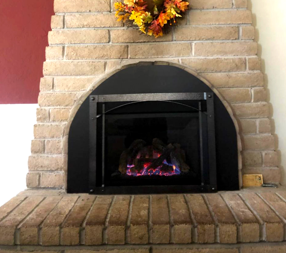 Electric Fireplace Gas Installation - After