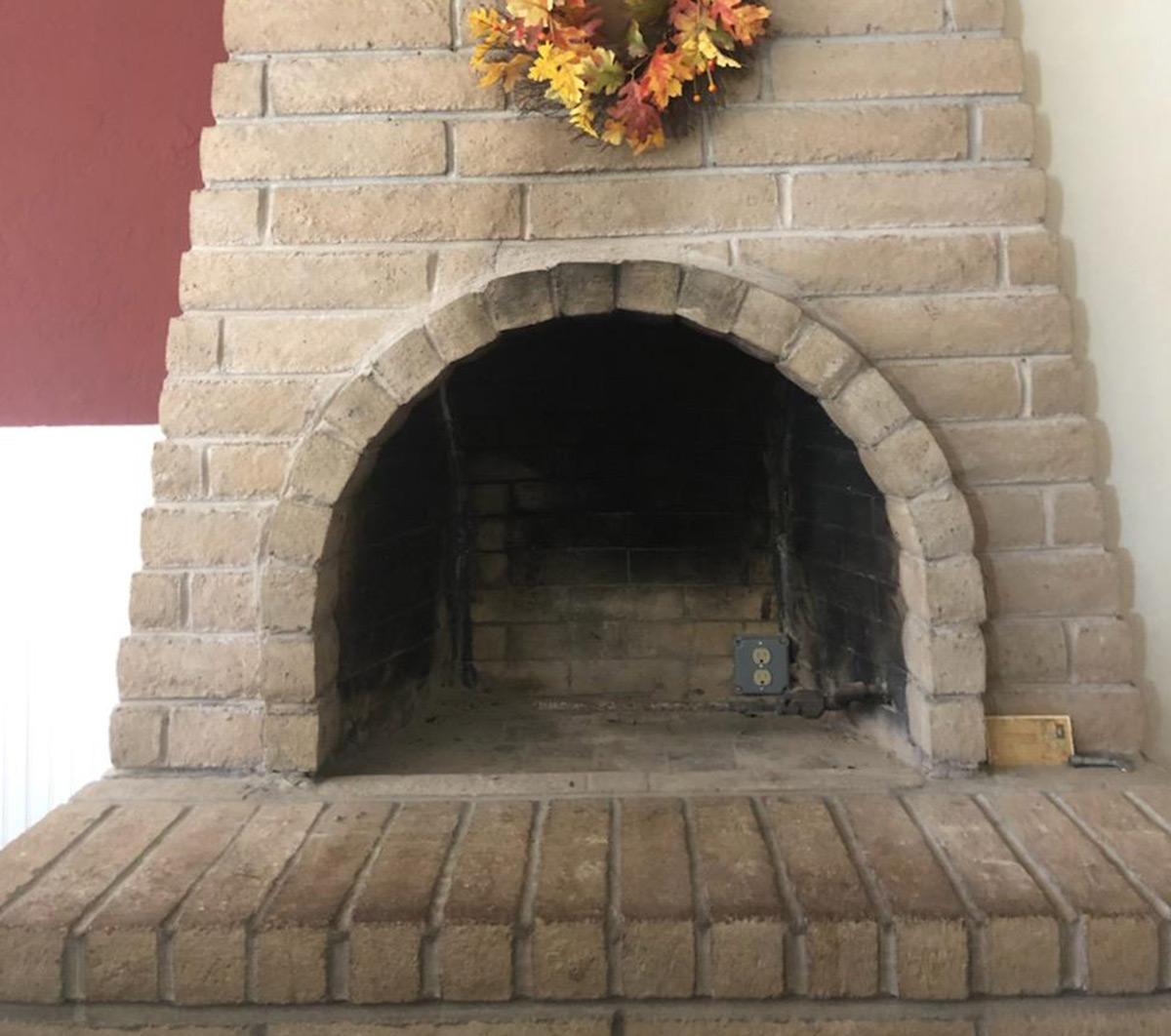 Electric Fireplace Gas Installation - Before