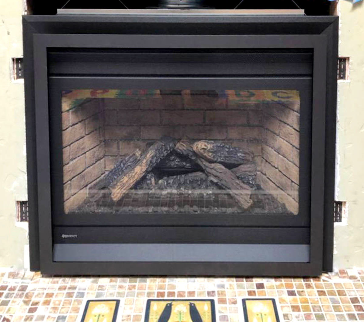 Electric Fireplace Installation - After
